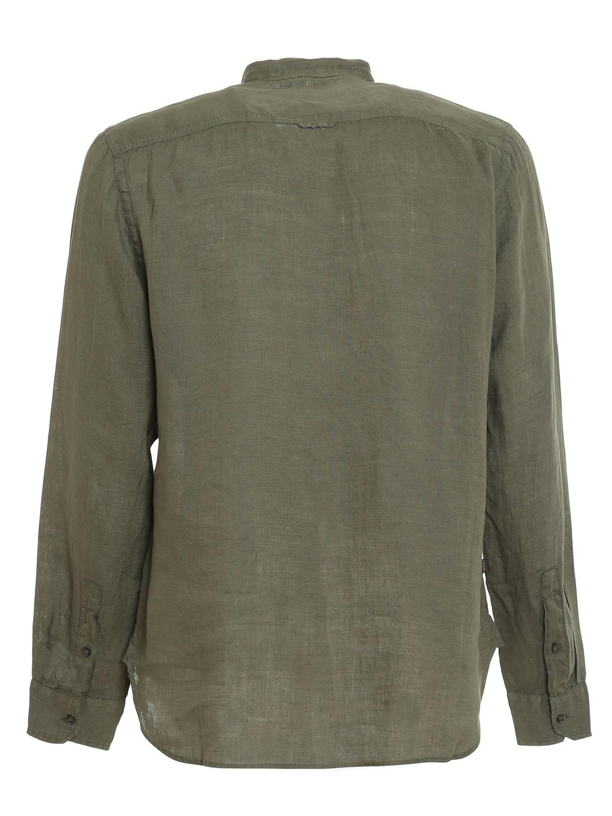 Immagine di Woolrich | Linen Band Collar Shirt