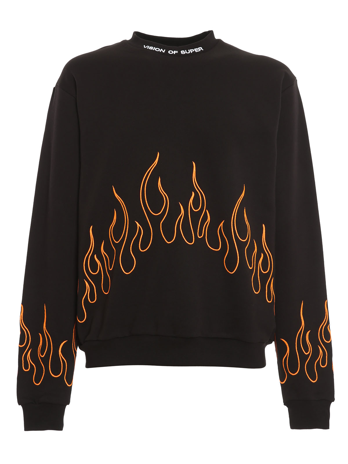 Picture of Vision Of Super | Crewneck Orange Embroidered Flame
