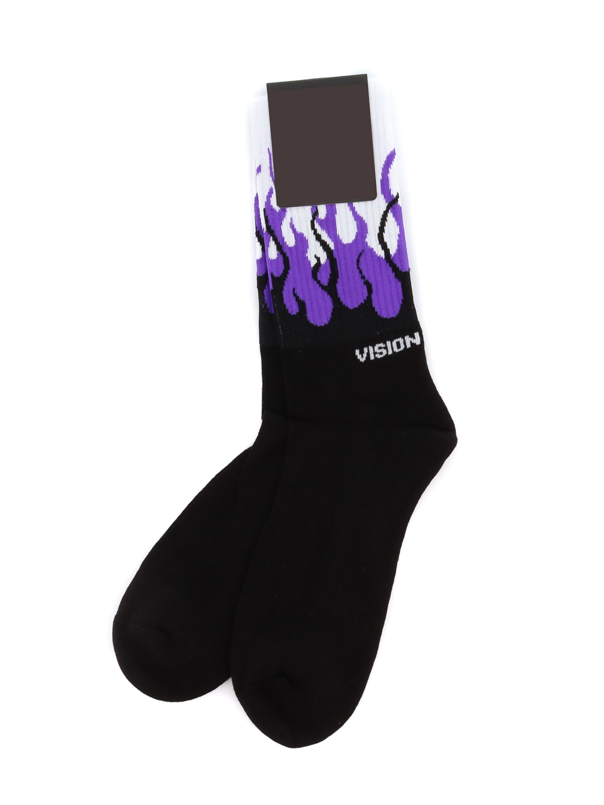 Picture of Vision Of Super | Socks Purple Flames