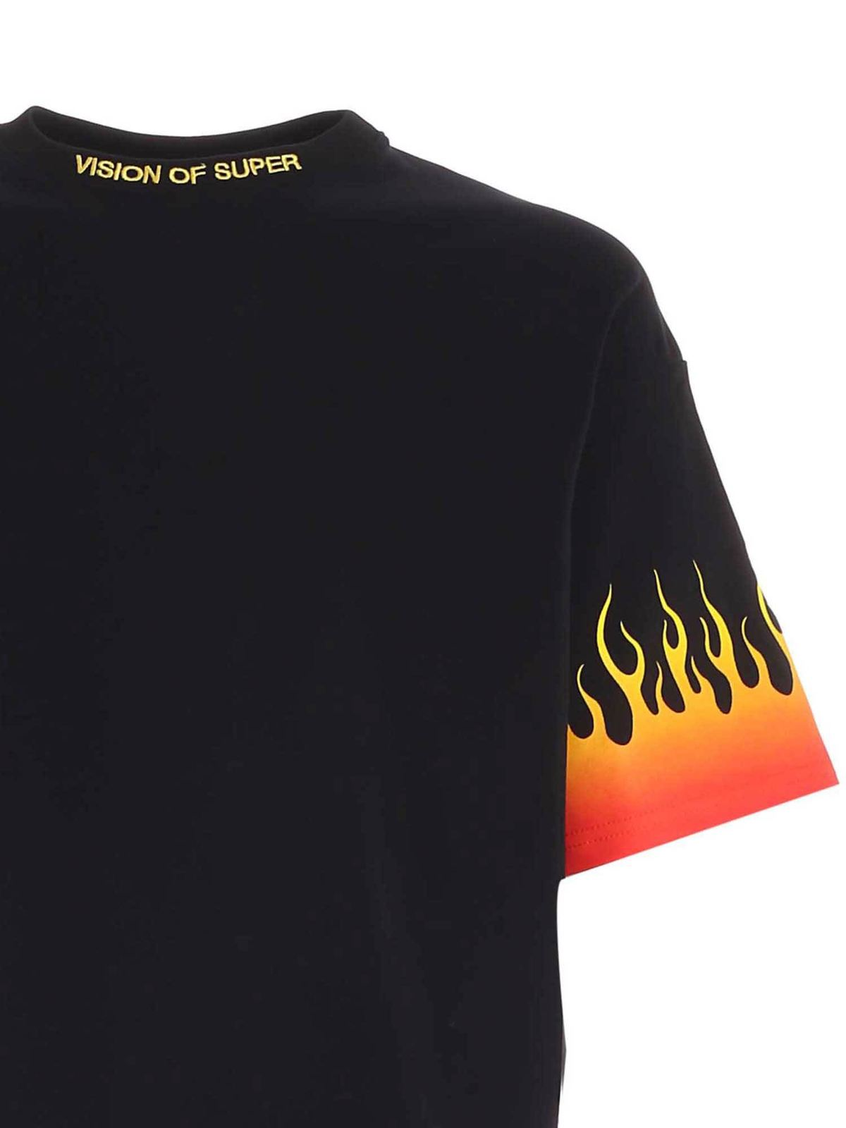 Immagine di Vision Of Super   Tshirt With Shaded Red Flames