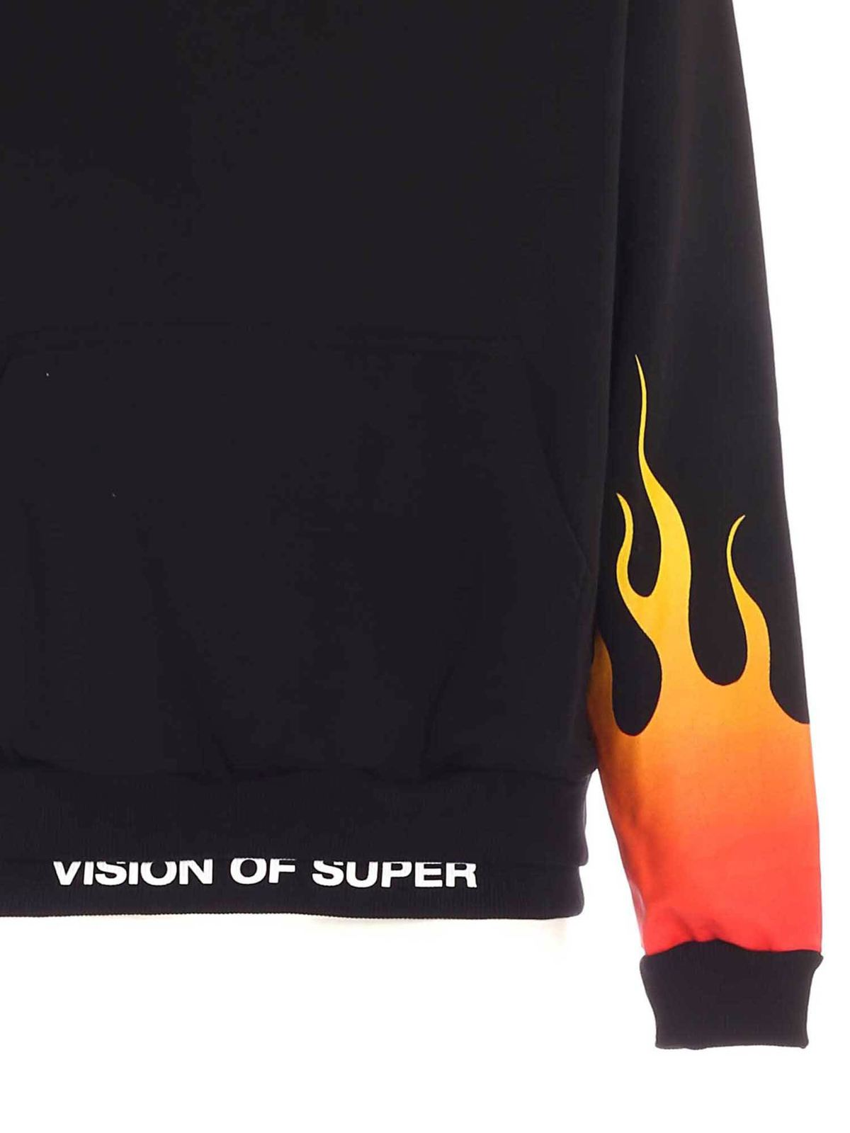 Picture of Vision Of Super | Hoodie With Red Shaded Flames