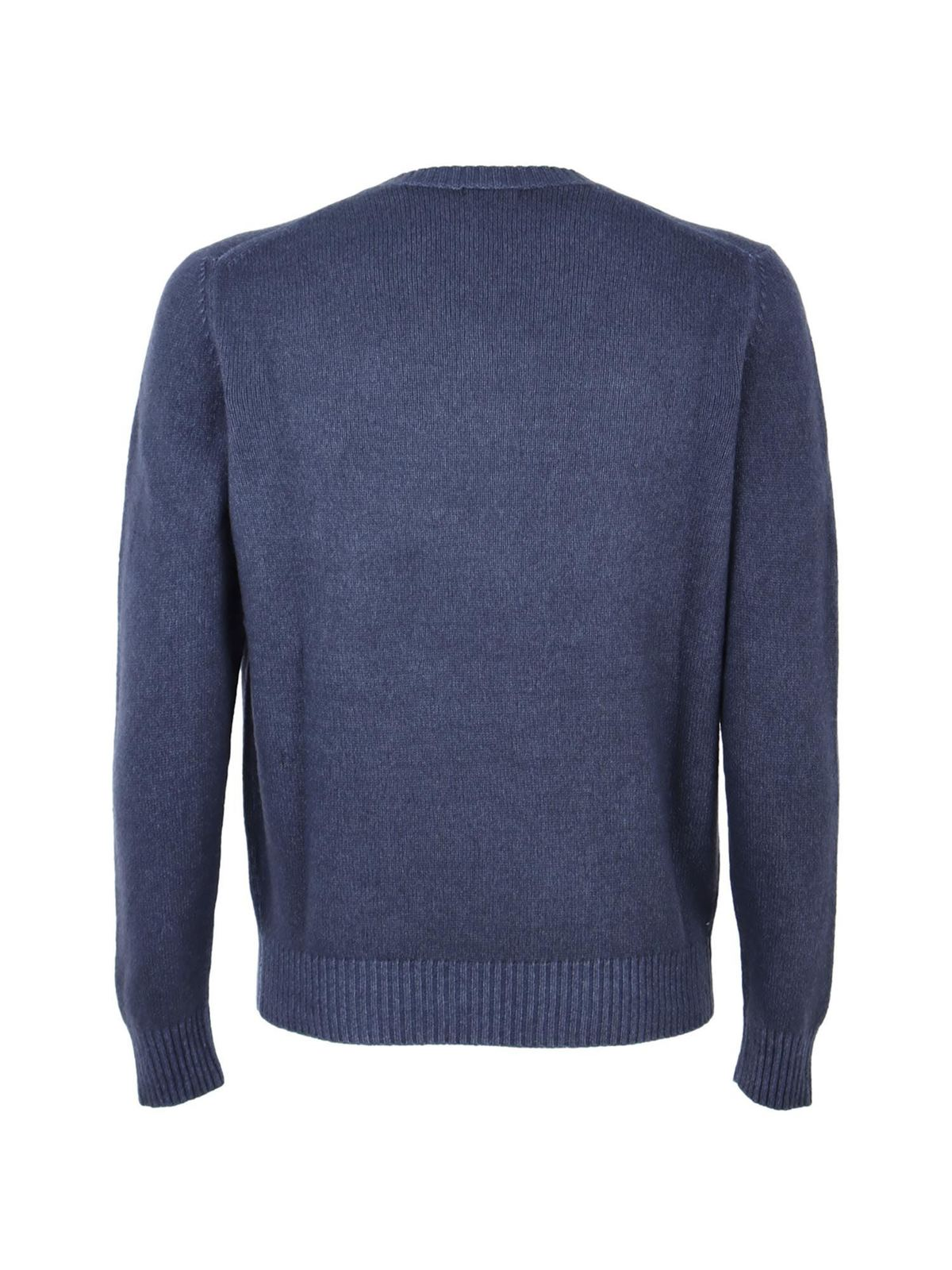 Picture of Malo   Round Neck Cashmere Dyed