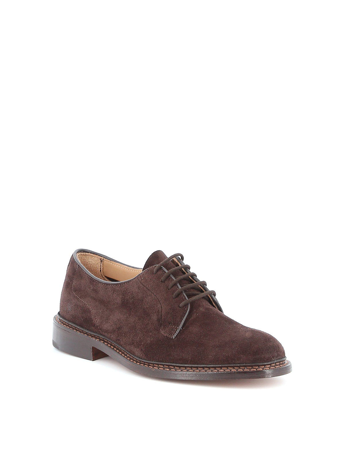 Picture of Trickers | Robert Plain Derby Castorino Suede