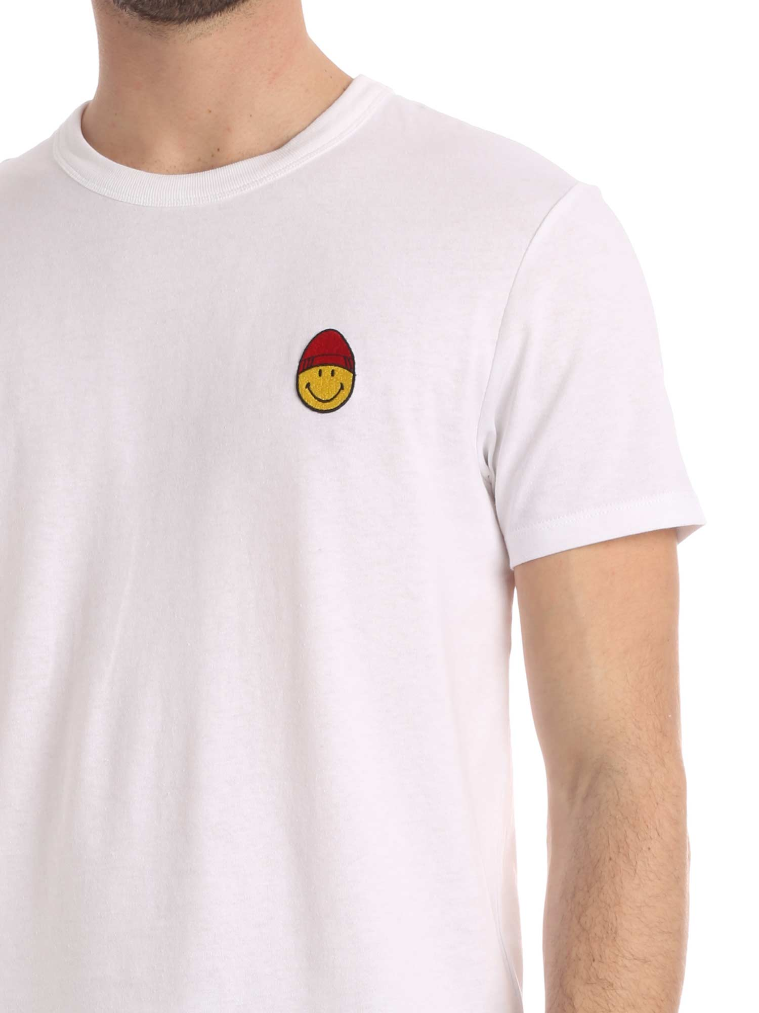 Immagine di Ami | Crewneck Tee With Smiley Patch